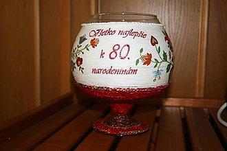 Nádoby - Veľký pohár na narodeniny-červený - 4938179_