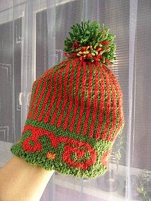 Detské čiapky - dupľovaná čapica - 4938048_