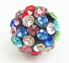 Korálky - Disco gulôčka multicolor - 4938236_