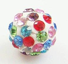 Korálky - Disco gulôčka multicolor - 4938243_