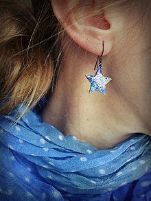 Náušnice - Little blue stars - 4940357_