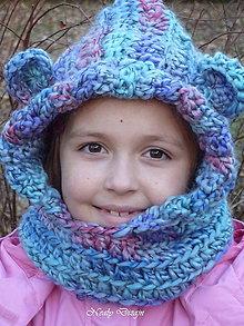 Detské čiapky - Fialkovonebíčková kuklička - 4942170_
