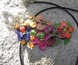 Náhrdelníky - kvitnúca záhrada - 4940584_