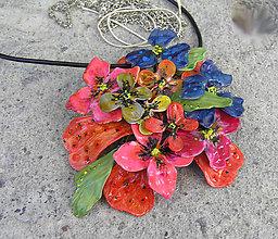 Náhrdelníky - kvety v rose, náhrdelník - 4940765_