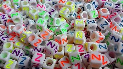 Korálky - Písmenke neónové Z - 4942808_