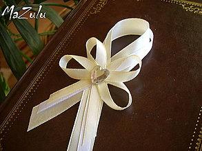 Pierka - svadobné pierko veľké č. 34 - 4940968_