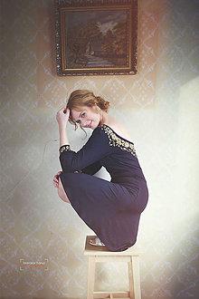 Šaty - Čierne šaty s maľbou... - 4942527_