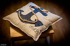 """Úžitkový textil - Vankúšik """"Nautical style"""" - 4947435_"""