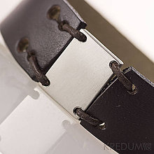 Náramky - Kožený náramek - Manus 20 steel L černý - 4945251_