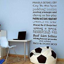 Dekorácie - (3594n) Nálepka na stenu - Pravidlá detskej izby - 4945113_