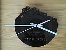 Spish Castle - vinylové hodiny