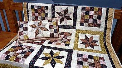 Úžitkový textil - patchwork deka - 4946562_
