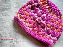 Detské čiapky - detská čiapka ružová - 4943839_