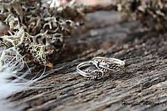 strieborný prsteň - nekonečná láska