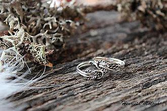 Prstene - strieborný prsteň - nekonečná láska - 4945440_