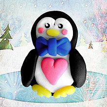 Magnetky - Zamilovaný tučniačik (on (magnetka)) - 4947097_