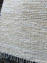 Úžitkový textil - koberec tkaný ,, biely,, 70 x 150 cm - 4949832_