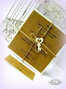 """Papiernictvo - Svadobné oznámenie: """"Kľúč od našej lásky..."""" - 4947609_"""
