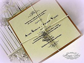 """Papiernictvo - Svadobné oznámenie """"Darujem ti moje srdce..."""" - 4947645_"""