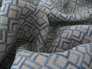 Textil - Ľan vzorovaný - 4949282_