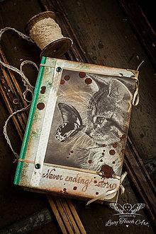 Papiernictvo - Butterfly Kitty Diary :) / na zákazku - 4948378_