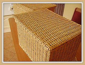 Košíky - Kôš - truhlička bambus - 4949428_