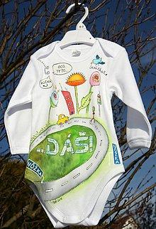 Detské oblečenie - Maľované bodynko