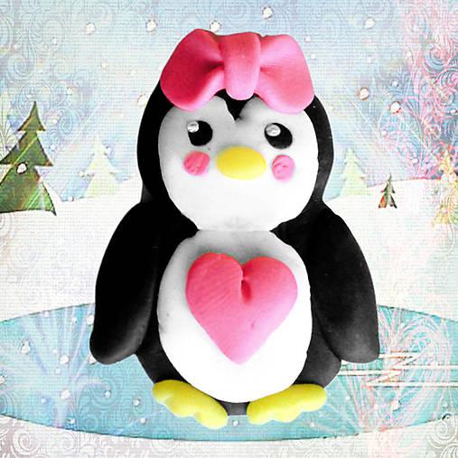 Valentínsky tučniačik - ona (magnetka)