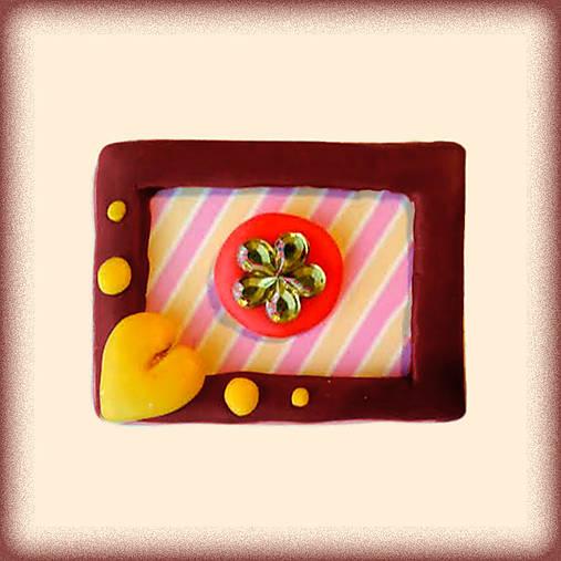 (aj) Valentínska magnetka s kvietkom
