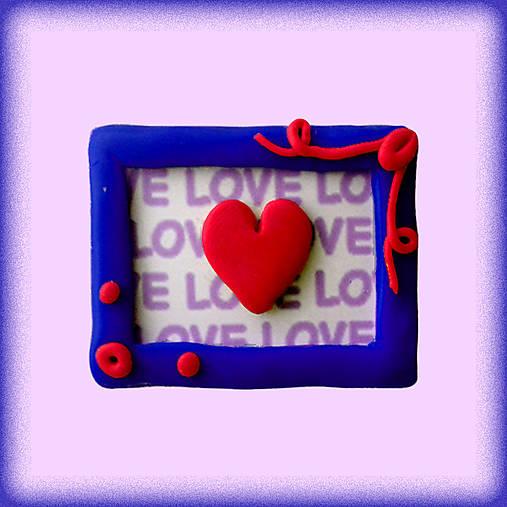 (aj) Valentínska magnetka so srdiečkom