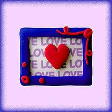 Magnetky - (aj) Valentínska magnetka so srdiečkom - 4950870_