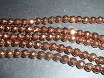 Minerály - Hematit bronzovočervený fazetovaný 6mm - 4956002_