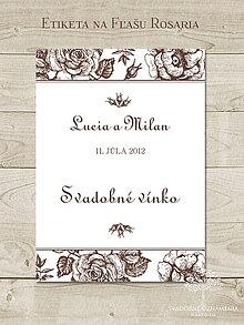 Papiernictvo - Etiketa na fľaše Rosaria - 4955461_