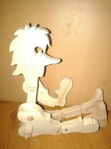 Bábiky - drevený pinochio - 4953703_