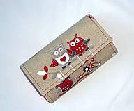 Peňaženky - Peňaženka -Sovičky - 4955525_