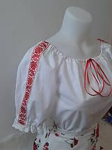 Košele - Blúzka s tkanou stuhou Elena - 4952758_