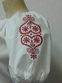 Košele - Blúzka s červeným srdcom Ivica - 4952733_