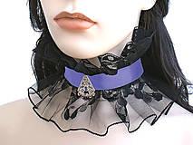 Náhrdelníky - Čipkový gotický golier s príveskom 0840 - 4957108_