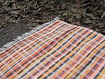 tkaný koberec cca 80 x 200 cm oranžový