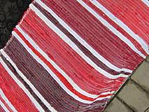 koberec tkaný červený tradičný cca 70 x 400 cm