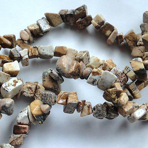 Jaspis zlomky-návlek 10cm