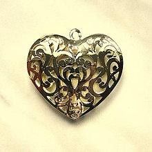 Komponenty - KPrív-srdce 56x53mm-1ks (zlatá) - 4956972_