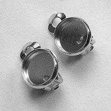 Komponenty - Klipsy s lôžkom 10mm-platina-1pár - 4957028_