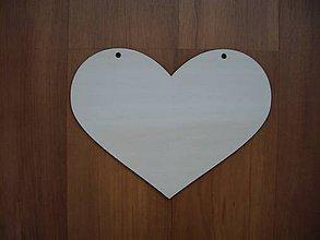 Materiál ručne robený - Srdce - dekorácia 18x13,5 cm - 4958394_