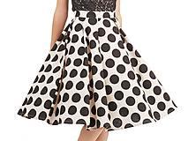 Sukne - retro bodkovaná suknička - 4956645_
