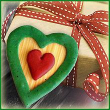 Magnetky - Valentínska magnetka - srdce (v natur farbách) - 4957851_