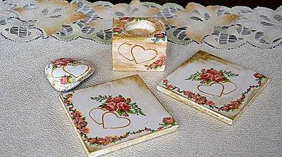 Svietidlá a sviečky - Valentínska romantická sada-AKCIA - 4961271_