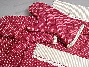 Úžitkový textil - chňapka - bordovo béžová - 4960637_