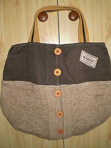 Veľké tašky - Khaki pletenka - 4962227_