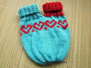 Rukavice - Dvojitá pletená rukavica
